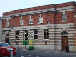 Post Office, Blackrock, Co. Dublin | https://commons.wikimedia.org/wiki/File:Main_Street_Blackrock,_Co_Dublin_late_1800s_facing_south.jpg