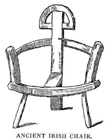 Ancient Irish Chair illustration | The Dublin Penny Journal, 1(8), p. 64.