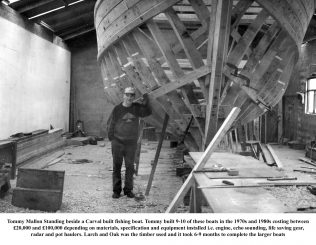 Tommy Mallon in his Boat Shed | Oughterard Heritage Group