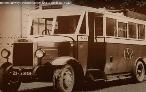 The GSR Leyland Badger Bus to Achill ca. 1932