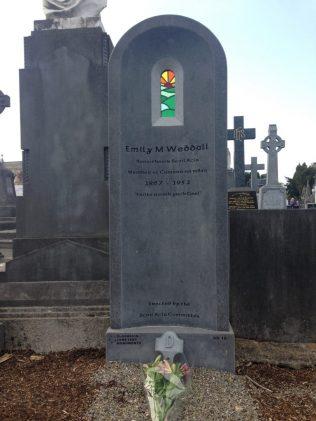 Emily Weddall's Grave stone at Republican Plot Glasnevin Cemetery Dublin   https://emilymweddall.com/2020/04/