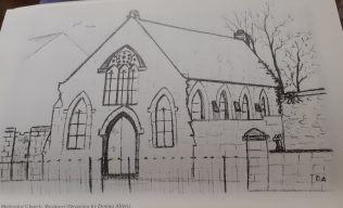 Methodist Church Sketch by Donna Allan  | Cathair na Mart 1996 Historical Journal No. 16