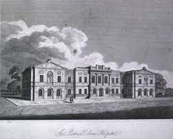 Sir Patrick's Dun's Hospital Engraving from National Library of Medicine   https://collections.nlm.nih.gov/catalog/nlm:nlmuid-101404656-img
