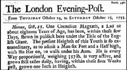 London Evening Post, October, 1755 | public domain