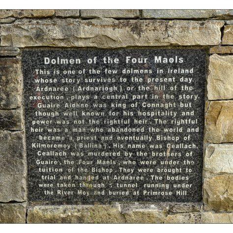 Dolmen of the four Maols Primrose Hill Ballina    Seamus Bermingham