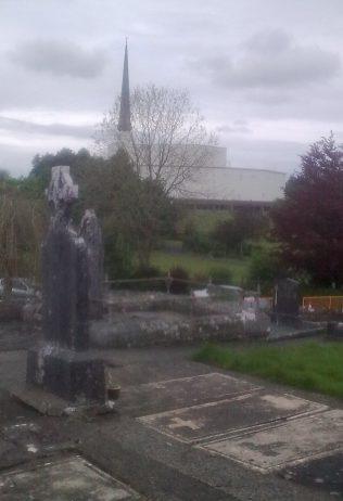 Knock Basilica from Witness's graves   Noelene Beckett Crowe