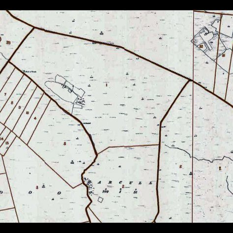Map Barcull Deserted Village   Seamus Bermingham