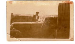 Thomas Moran pictured at Mulranny with his motor car