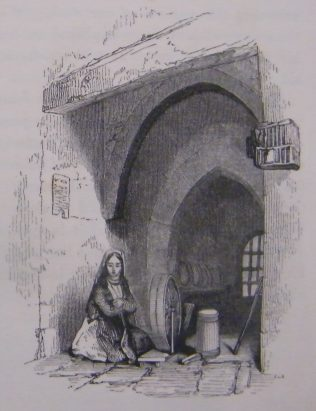 Woman at Spinning Wheel. | (Hall, 1843, 455)