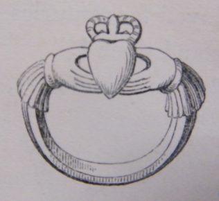 Claddagh Ring.   (Hall, 1843, 458)