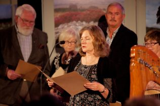 Ann Coutlee reading her work at the launch of the project | Paul Sherwood