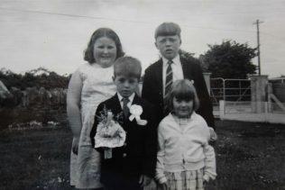 1.Family photo from 1972; (rear)Angela O'Mahony, the author Gerry O'Mahony; (front) Maurice O'Mahony Jnr., Catherine O'Mahony (died October 1972) | Gerry O'Mahony