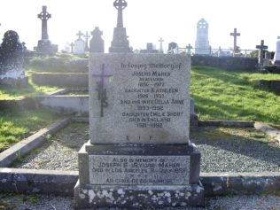 Maher Family Grave, Aughavale | D Joyce, Author, Personal Photo