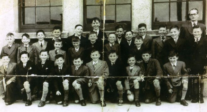 Confirmation class of 1954. | Courtesy of John Carr.