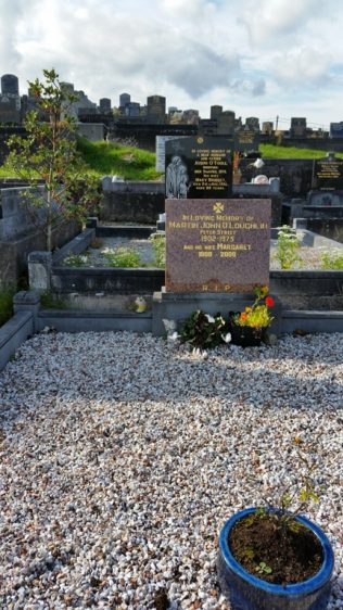 Martin John's final resting place in Aughavale Cemetery outsided Westport Town