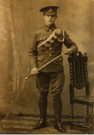 James Comber in uniform.   Courtesy of Gerald Comber.