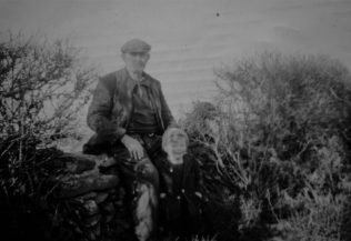3.	The author Gerry O'Mahony as a three year old, with his paternal grand-father Michael O'Mahony.  Photo taken in Monatrea, Co. Waterford in 1963. | Gerry O'Mahony
