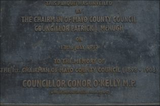 Plaque in Honour of Conor O'Kelly | Author Personal Collection