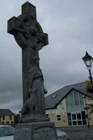 Monument for PW Nally in Balla Co Mayo | Author, personal photograph