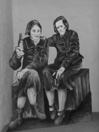 Artist Bridie Geraghty's impression of Gardiner & Pringle | Reproduced with the kind permission of the Geraghty family.