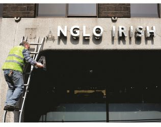 Object No. 99 Anglo Irish Bank sign, 2000-2011 | National Museum of Ireland - Decorative Arts & History