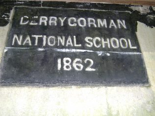 Date stone of the old Derrygorman National School where grandad went to school.