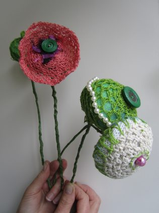 Flowers made by Anne Joyce for the exhibition in the National Museum of Ireland - Country Life