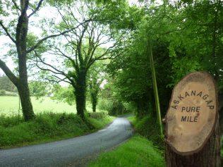 Askanagap Pure Mile sign | Askanagap Community Development Association