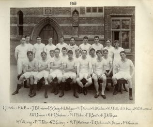 Athletics Team including Edward Fleetwood-Berry. | Courtesy of Abingdon School, Oxford.