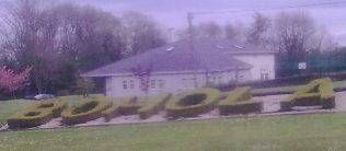 Bohola sign plus Community Centre.   Author's Personal Photo