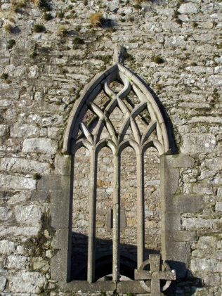 East window of Burrishoole friary. Patrons were often accorded burial in the east end of the church, known as the choir. | Yvonne McDermott