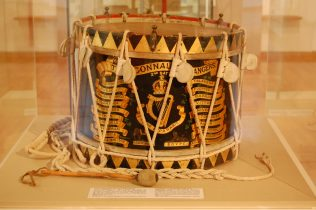 Connaught Rangers drum | Courtesy of Helen Bermingham, Galway City Museum.