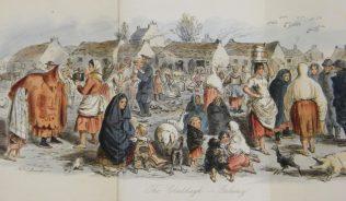 Claddagh, Galway, by John Leech. | A Little Tour in Ireland (1859).