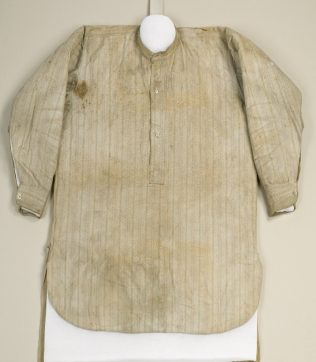 Object No. 91 James Connolly's shirt, 1916 | National Museum of Ireland - Decorative Arts and History,