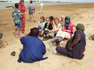 The group at the River Niger   Photo: Jacqueline McCarthy