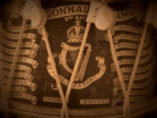 Close up of Connaught Rangers drum. | Courtesy of Martin Laheen.