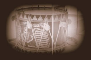 Connaught Rangers drum. | Counrtesy of Martin Laheen.
