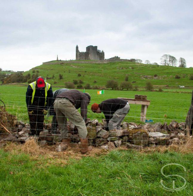 DSWAI repairing walls close to The Rock of Cashel   Sunny Wieler