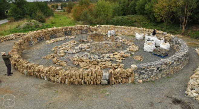 The Gathering of Stones monument under construction | Sunny Wieler