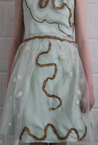 Detail on the front of the dress.