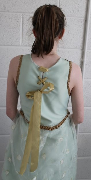Detail on the back of the dress.