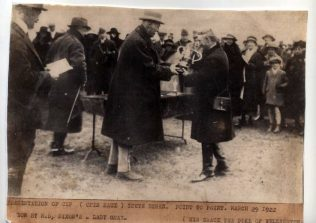 The Duke of Wellington presenting the cup to Oliver Dixon at South Berks point March 28 1922 | The Dixon Family