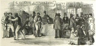 Emigration Agents' Office. | Illustrated London News, 10 May 1851.