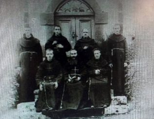 Monks at Errew Monastery, 1 January 1900