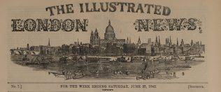 Masthead of the Illustrated London News.   Illustrated London News, 25 June 1842.