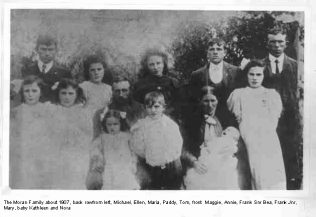 Maggie on the front left with her family in 1907 | Moran family