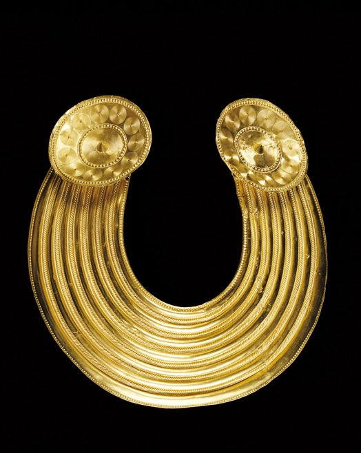 Object No. 12 Gleninsheen gold gorget, c.800-700BC | National Museum of Ireland - Archaeology
