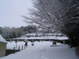 Askanagap Graveyard in the snow   Askanagap Community Development Association