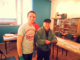 Greg Quinn & Michael Lynskey helping out at Galway City Museum. | Courtest of Brendan McGowan.
