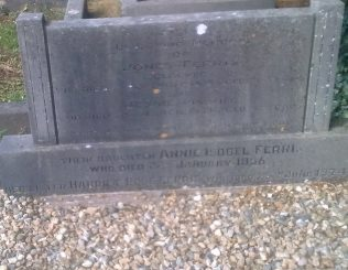 Harriet Rose Ferris Grave  Holy Trinity Cemetery Westport | Author's Personal Photo